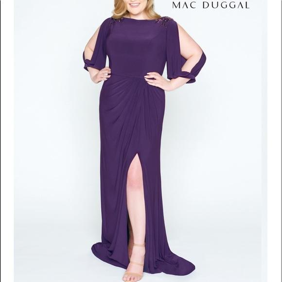 Mac Duggal Beaded Bateau Sheath Dress Plus size NWT
